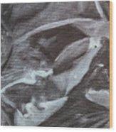Black Abstract Wood Print