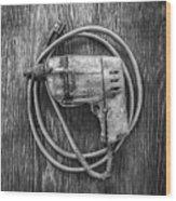 Black And Decker Drill Wood Print