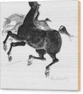 Black And Gray Wood Print