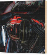 Black And Red Harley 5966 H_2 Wood Print