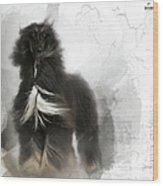 Black And Tan Afghan Hound In The Wind Wood Print