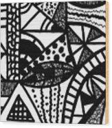 Black And White 16 Wood Print
