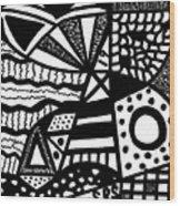 Black And White 19 Wood Print