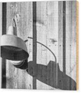 Black And White Barn Fixture 2 Wood Print
