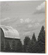 Black And White Barn Wood Print