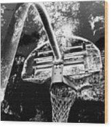 Black And White Basketball Art Wood Print