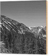 Black And White Beartooth Wood Print