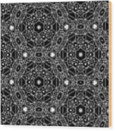Black And White Boho Pattern 3- Art By Linda Woods Wood Print