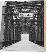 Black And White Bridge Wood Print