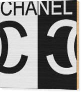 Black And White Chanel Wood Print