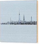 Black And White City Wood Print