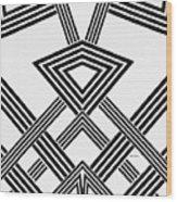 Black And White Diamond Wood Print