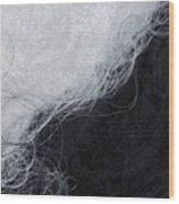 Black And White Fibers - Yin And Yang Wood Print