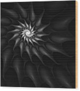 Black And White Fractal 080810c Wood Print