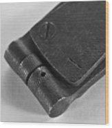 Black And White Handheld Holepunch Wood Print