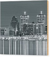 Black And White Louisville Wood Print