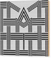Black And White M Wood Print