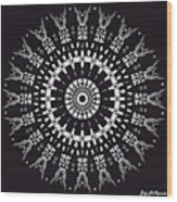 Black And White Mandala No. 1 Wood Print