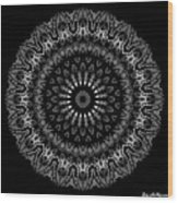 Black And White Mandala No. 2 Wood Print