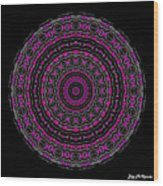 Black And White Mandala No. 3 In Color Wood Print by Joy McKenzie