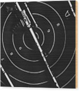 Black And White Military Marksman  Wood Print