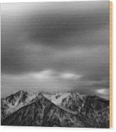 Black And White Night Wood Print