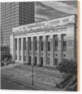 Black And White Of The Tennessee Supreme Court Building In Nashville Tennessee Wood Print