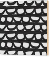 Black And White Pebbles- Art By Linda Woods Wood Print