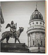 Black And White Photography - Berlin - Gendarmenmarkt Square Wood Print