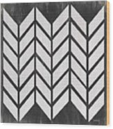 Black And White Quilt Wood Print