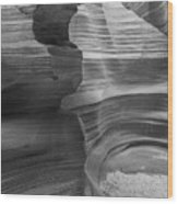 Black And White Sandstone Art Wood Print
