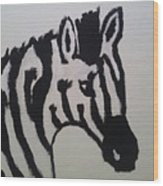Black And White Stripes Wood Print