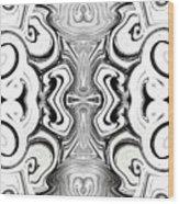 Black And White Symmetry   Wood Print