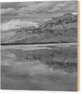 Black And White Talbot Lake Sunset Wood Print