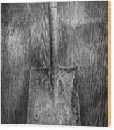 Square Point Shovel 3 Wood Print