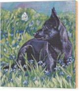 Black Australian Kelpie Wood Print