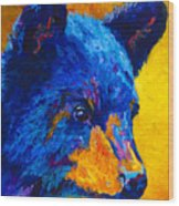 Black Bear Cub 2 Wood Print
