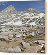 Black Bear Lake Camp - Sierra Wood Print