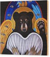 Black Bear Seraphim Wood Print