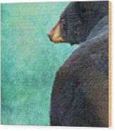 Black Bear's Bum Wood Print