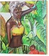 Black Beauty004 Wood Print