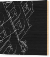 Black Bells Wood Print