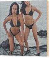 Black Bikinis 4 Wood Print