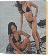 Black Bikinis 5 Wood Print