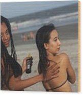 Black Bikinis 51 Wood Print
