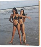 Black Bikinis 65 Wood Print