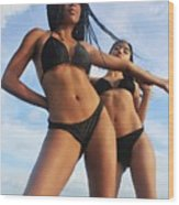 Black Bikinis 66 Wood Print