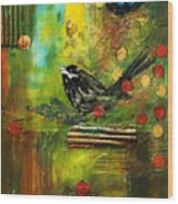 Black Bird Come Home Wood Print