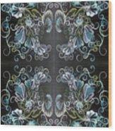 Black Blue Green Wood Print