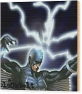 Black Bolt Wood Print